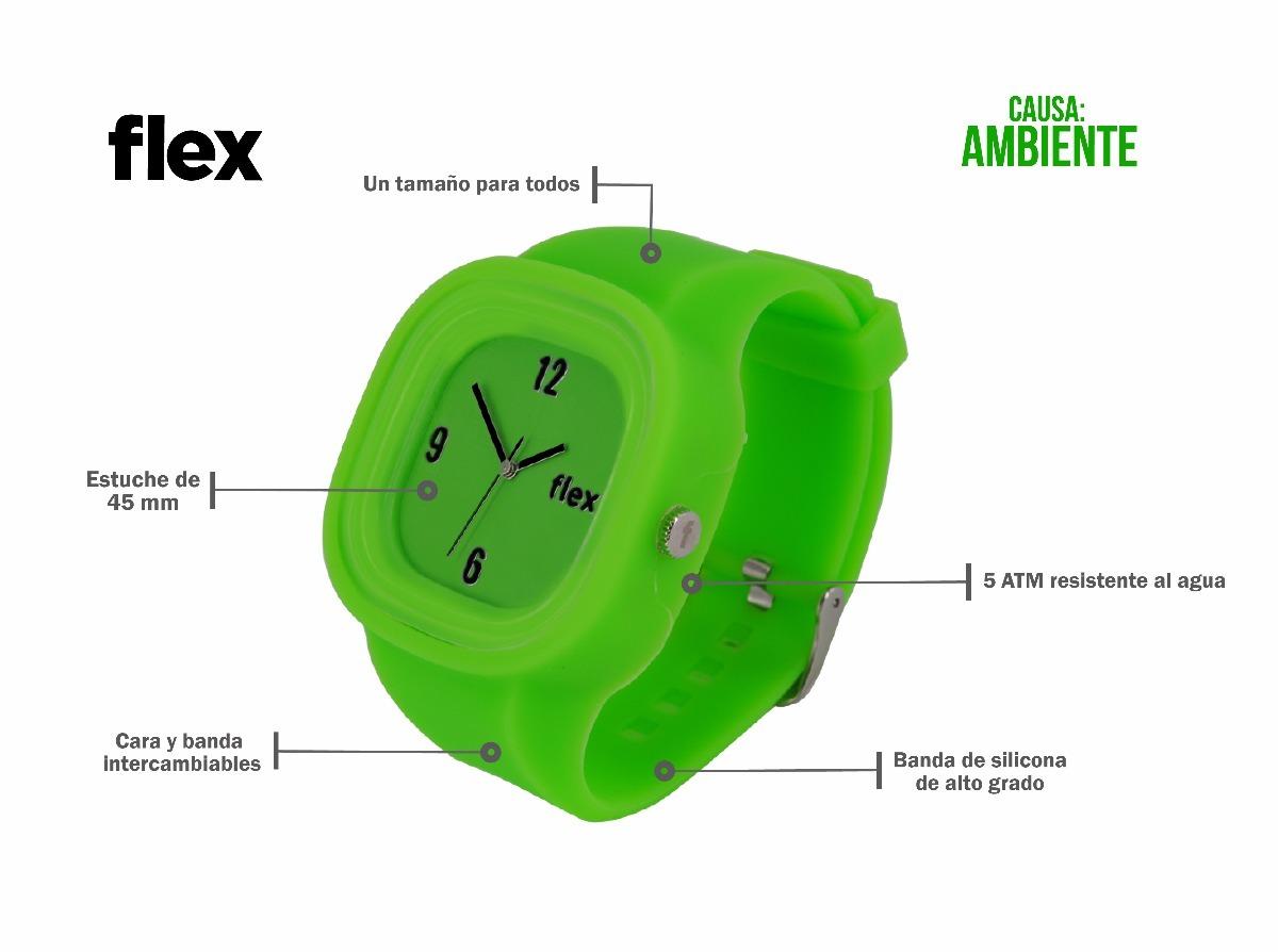 a7783554b3a7 Reloj Flex Watches Medio Ambiente Clásico Silicona -   999.00 en ...