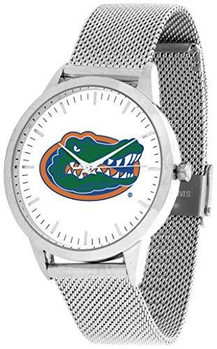 reloj florida gators - mesh statement watch - silver band