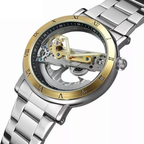 reloj forsining malla cuero automatico excelente calidad