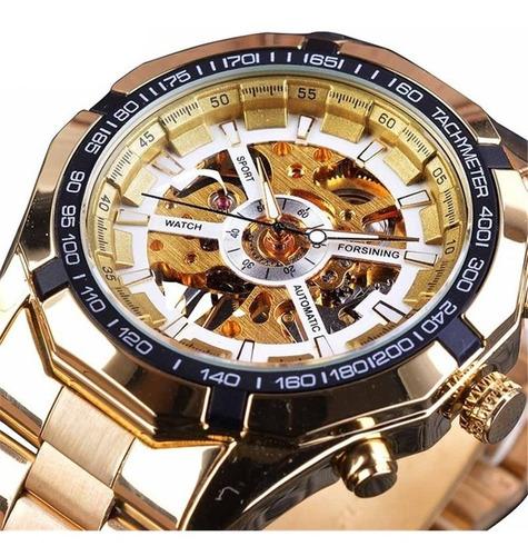 reloj forsining saboga negocios skeleton automatico mecánico