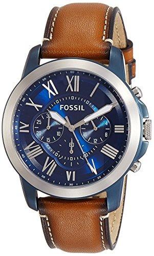 91733f02b659 Reloj Fossil 44mm Grant Azul Y Plateado Para Hombres Con Cor -   151.990 en  Mercado Libre
