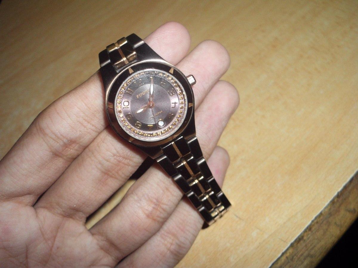 56cc5e3419b4 Reloj Fossil Am-4126 10 Atm 100% Original De Dama Usado - Bs. 8.000 ...