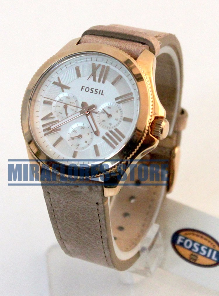 5e8f6083186f Reloj Fossil Am4532 Cecile Dorado Correa De Cuero Para Dama - S  399 ...
