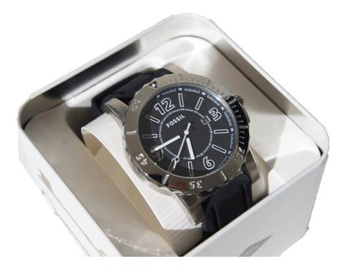 reloj fossil black silver mod. bq1023