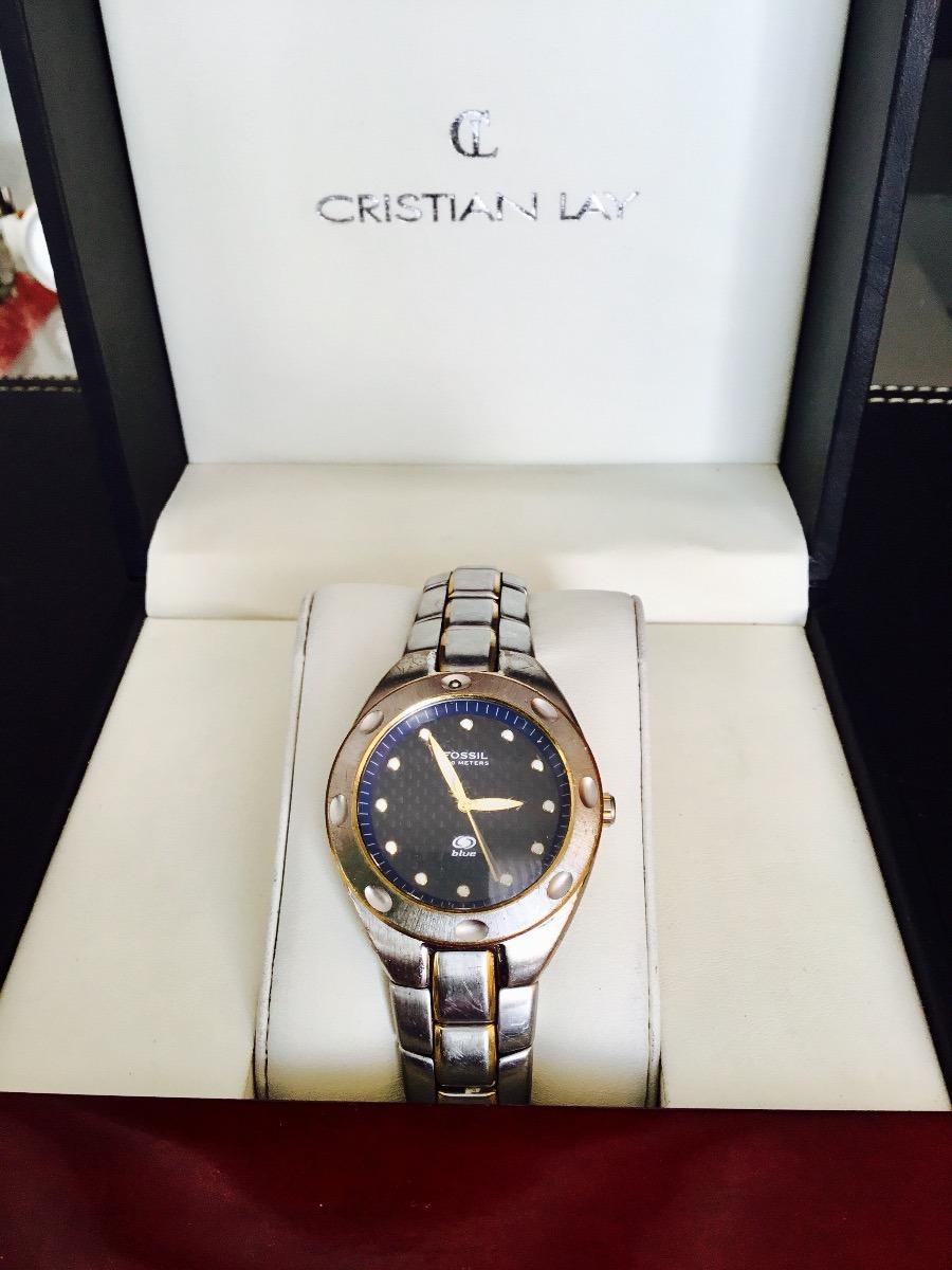 f16b58298253 Reloj Fossil Blue 100 Meters Varon -   30.000 en Mercado Libre