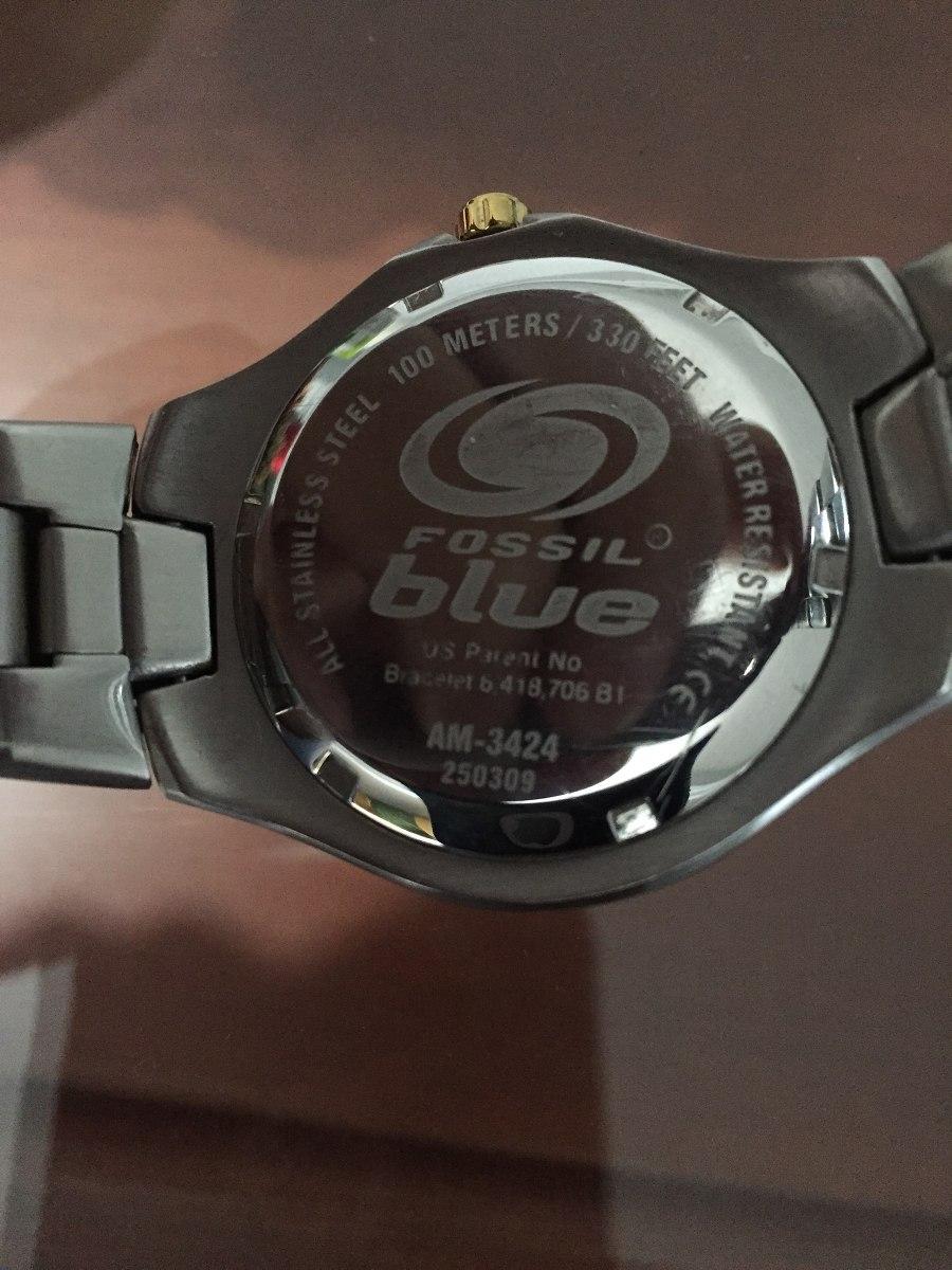 c47b60e3a799 reloj fossil blue de acero inoxidable. Cargando zoom.