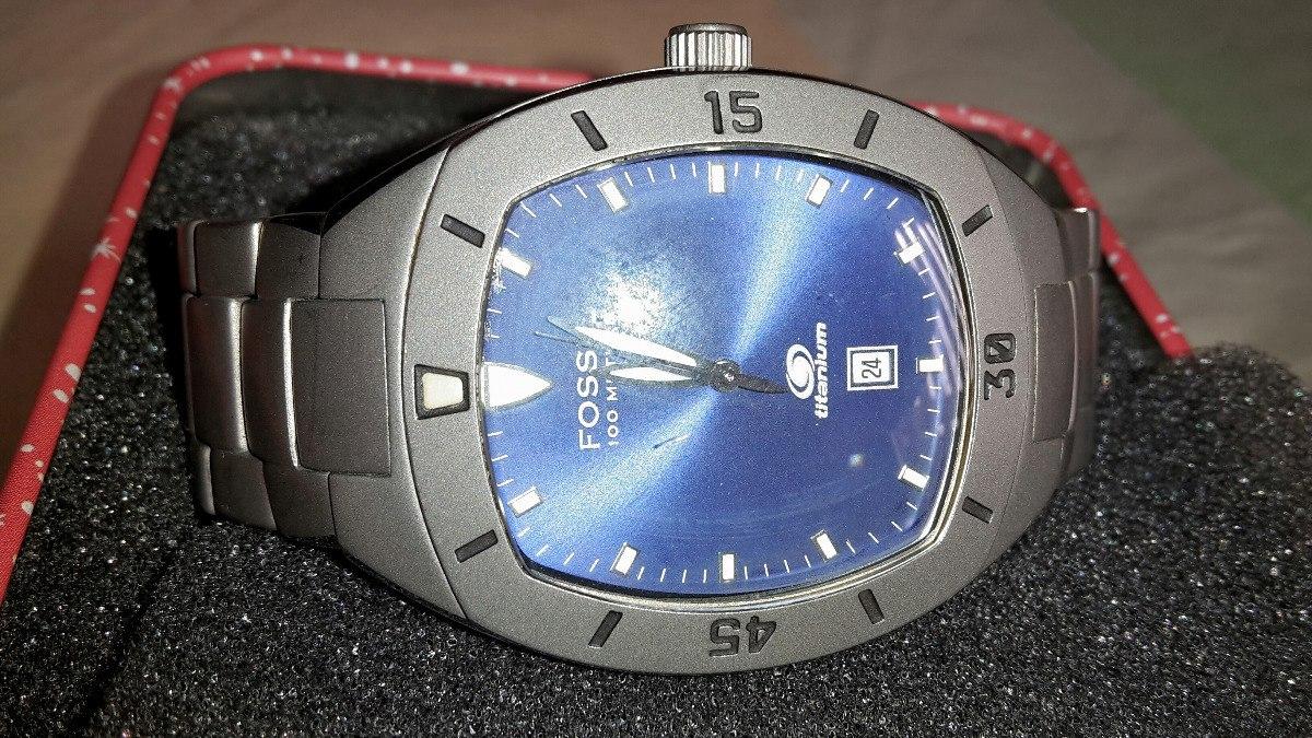 b21b66f0f32f reloj fossil blue de titanium como nuevo. Cargando zoom.