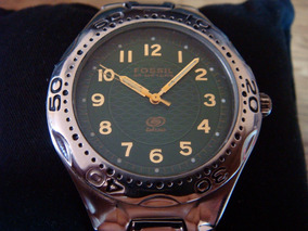 aa0ce4d1eb82 Reloj Fossil. Bonita Caratula Verde. Acero Inoxidable.