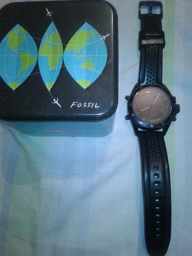 reloj fossil caballero analogico digital