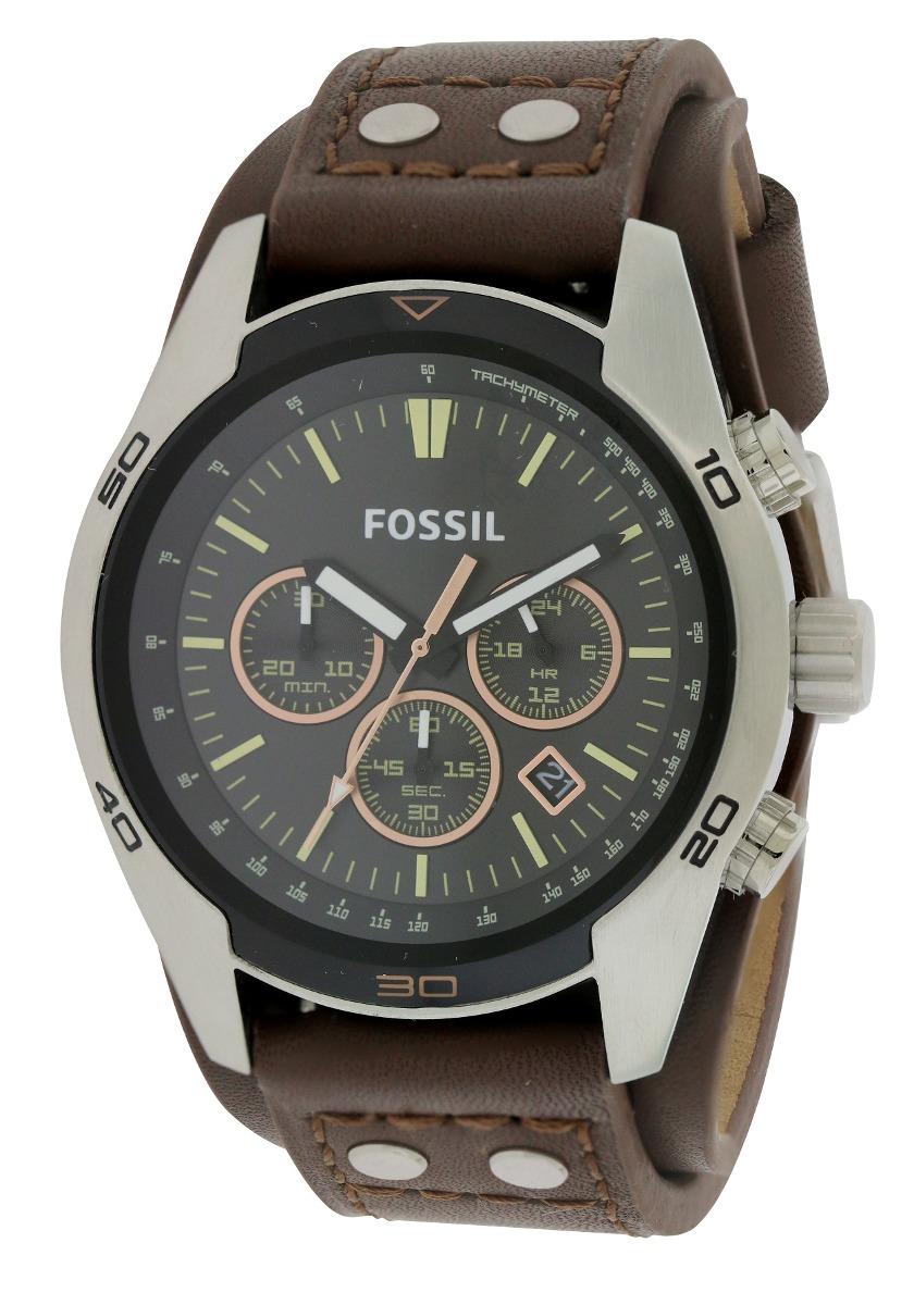 862be0377f17 reloj fossil cochero del cuero del para hombre del cronogr. Cargando zoom.