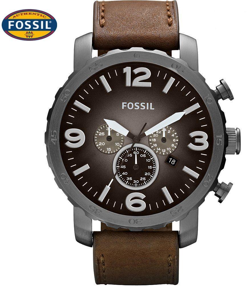 Reloj Marrón Fossil 100Nuevo Cronógrafo Jr1424 Correa shCQtdr