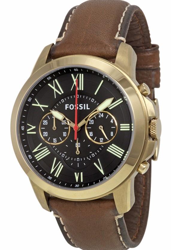 a00caf9b1348 reloj fossil cronografo fs4812 acero malla cuero garantia of. Cargando zoom.