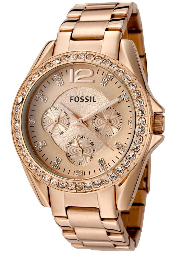 Reloj Fossil De Dama Dorado Rosa