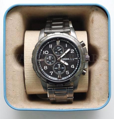 f67e23dddda5 Reloj Fossil Dean Fs4721 Hombre Gris Metalico De Cuarzo -   3