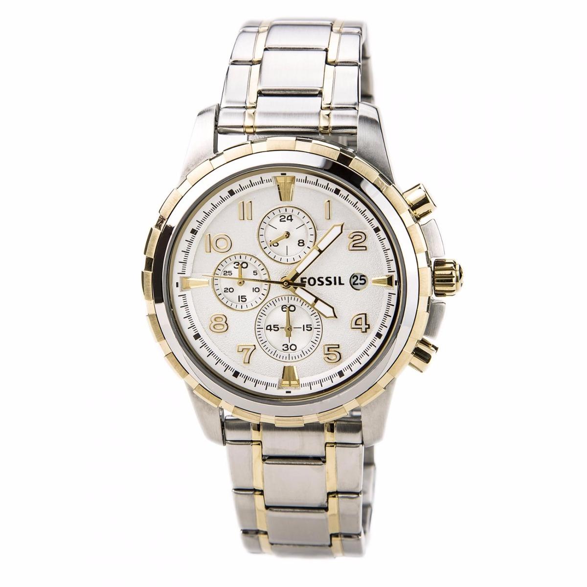 e3a051dab2ea reloj fossil dean fs4795 plateado dorad cronograph caballero. Cargando zoom.