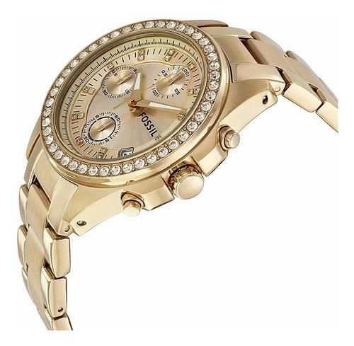 reloj fossil es 2683 original acero cronografo