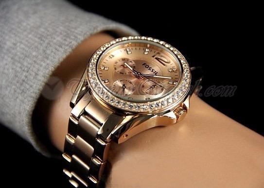 a95183178e28 Reloj Fossil Es2811 Riley Rose Gold-tone - S  439