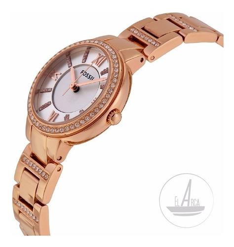 reloj fossil es3284 virginia, dorado rosa