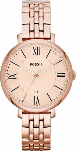 reloj fossil es3435  dama acero calendario original garantia