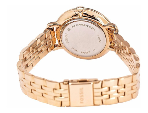 reloj fossil es3546 analogico oro rosa para dama