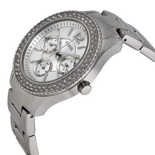 reloj fossil es3588 plateado dama 100% original envío gratis