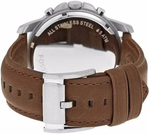 reloj fossil fs4813 correa de cuero marrón - 100% nuevo