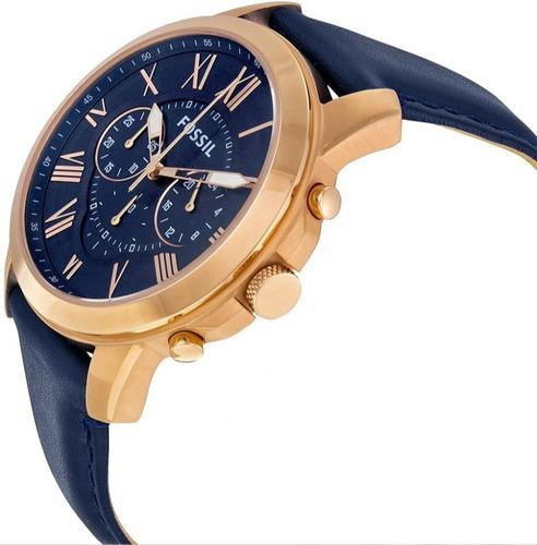 reloj fossil fs4835 correa de cuero - 100% nuevo y original