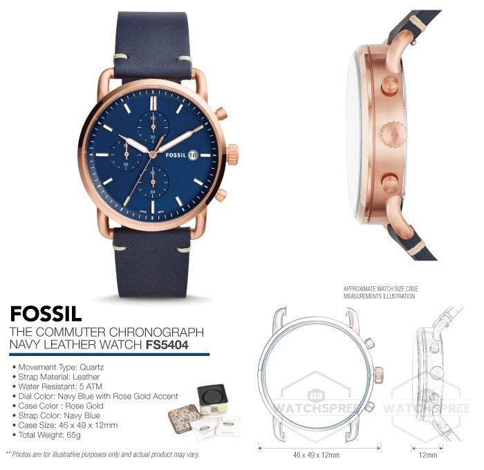 79e5efedd058 Reloj Fossil Fs5404 Quartz Hombre Correa  watchsalas  -   2
