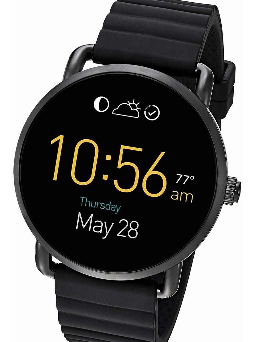 Reloj Fossil Ftw2103 Q Wander Touchscreen Black Smartwatch