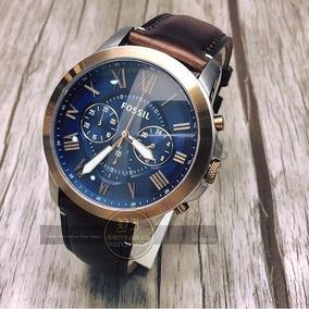 ae41b7d0ae4b Reloj Fossil Fs4735 Hombre Grant Piel Cafe Envio Gratis - Reloj de Pulsera  en Mercado Libre México