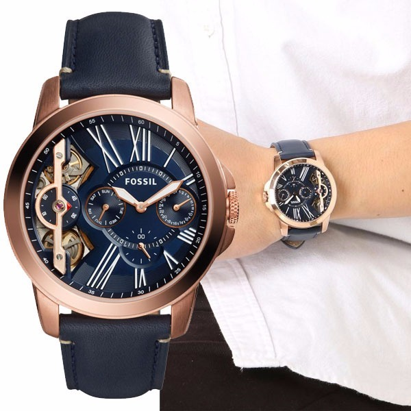 Reloj fossil azul hombre