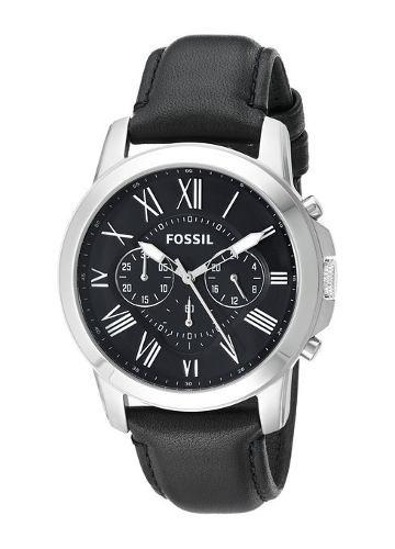 reloj fossil grant negro