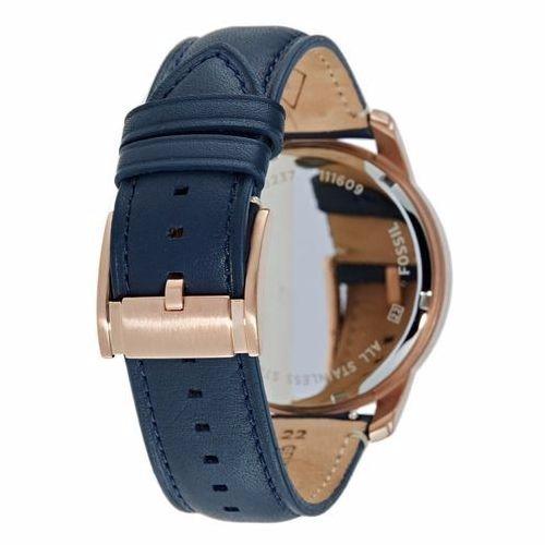 c5c072fe52fd Reloj Fossil Grant Sport Fs5237 Hombre Azul Piel De Cuarzo ...