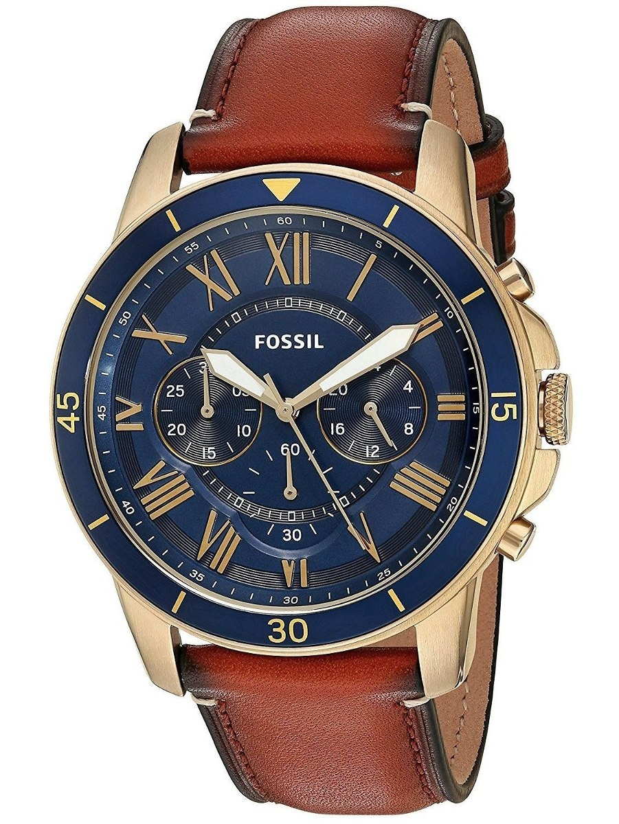 faaf9f27b6a8 Reloj Fossil Para Hombre Fs5268 Grant Pulso En Cuero Color ...