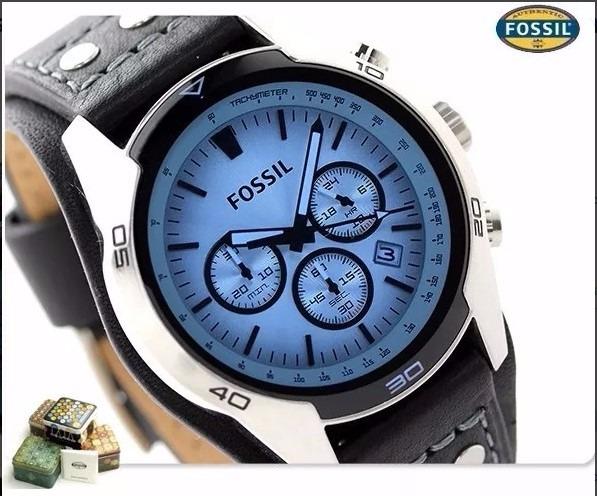 e243a083e827 Reloj Fossil Hombre Ch2564 - Vidrio Azul Plateado - U S 145