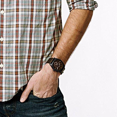 reloj fossil hombre fs4656 - acero - cuero - original - new