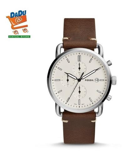 reloj fossil hombre fs5402 - acero - cuero - original - new
