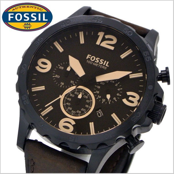 bbbf089024cc Reloj Fossil Hombre Jr1487 Original Pulso Cuero -   460.900 en Mercado Libre