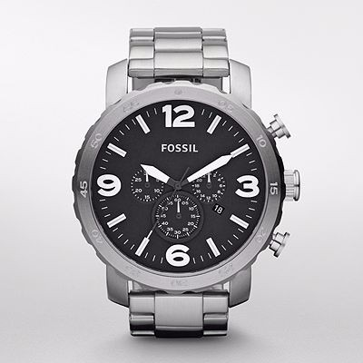 Reloj Fossil Hombre Nate Crono Nuevo Jr1353 | Envio Gratis