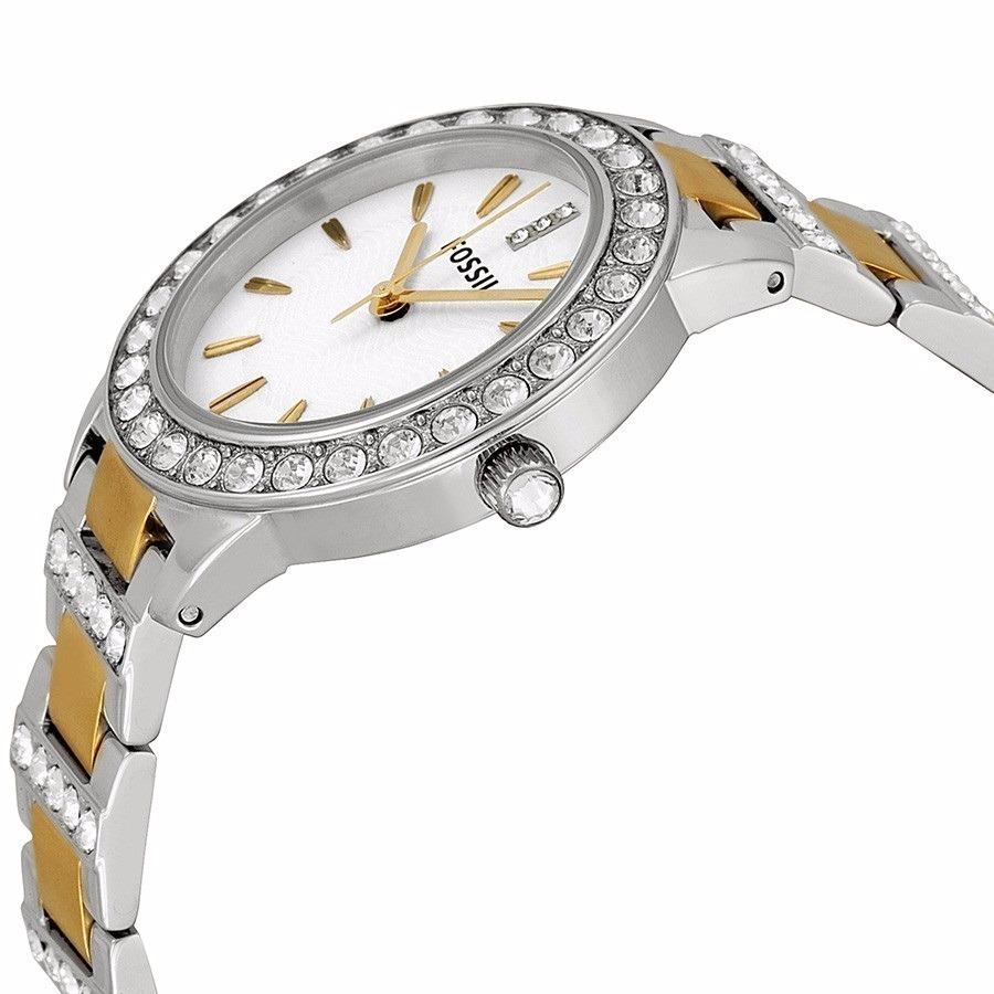 9286b464922a reloj fossil jesse es2409 para dama acero plateado y dorado. Cargando zoom.