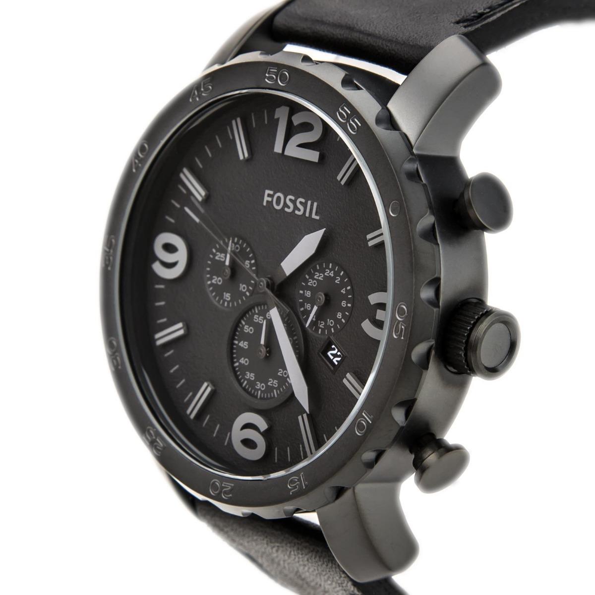 7441d556423f reloj fossil jr1354 nate cronografo hombre negro mate. Cargando zoom.