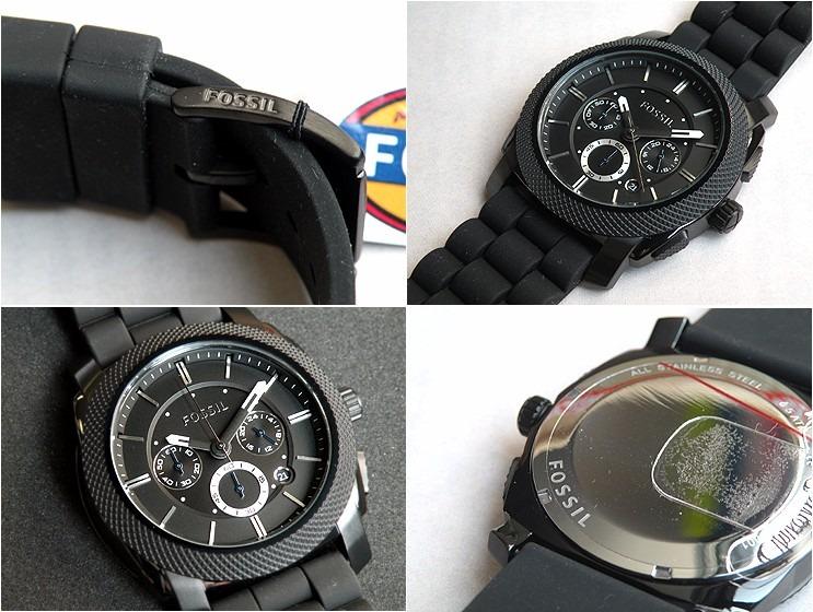 2e7a0a483b0c Reloj Fossil Machine Fs4487 Hombre Deportivo Negro - S  439