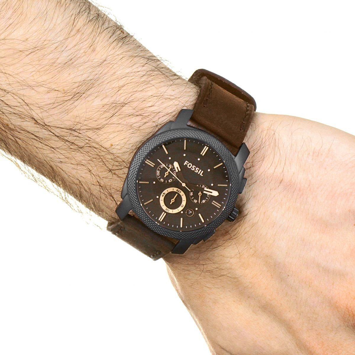 diseños atractivos comprar auténtico ventas especiales Reloj Fossil Machine Fs5251set + Pulsera En Stock Original