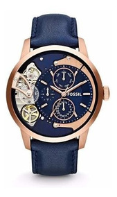 Me1138 Multifunction Townsman Leather Fossil Blue Reloj 29EHID