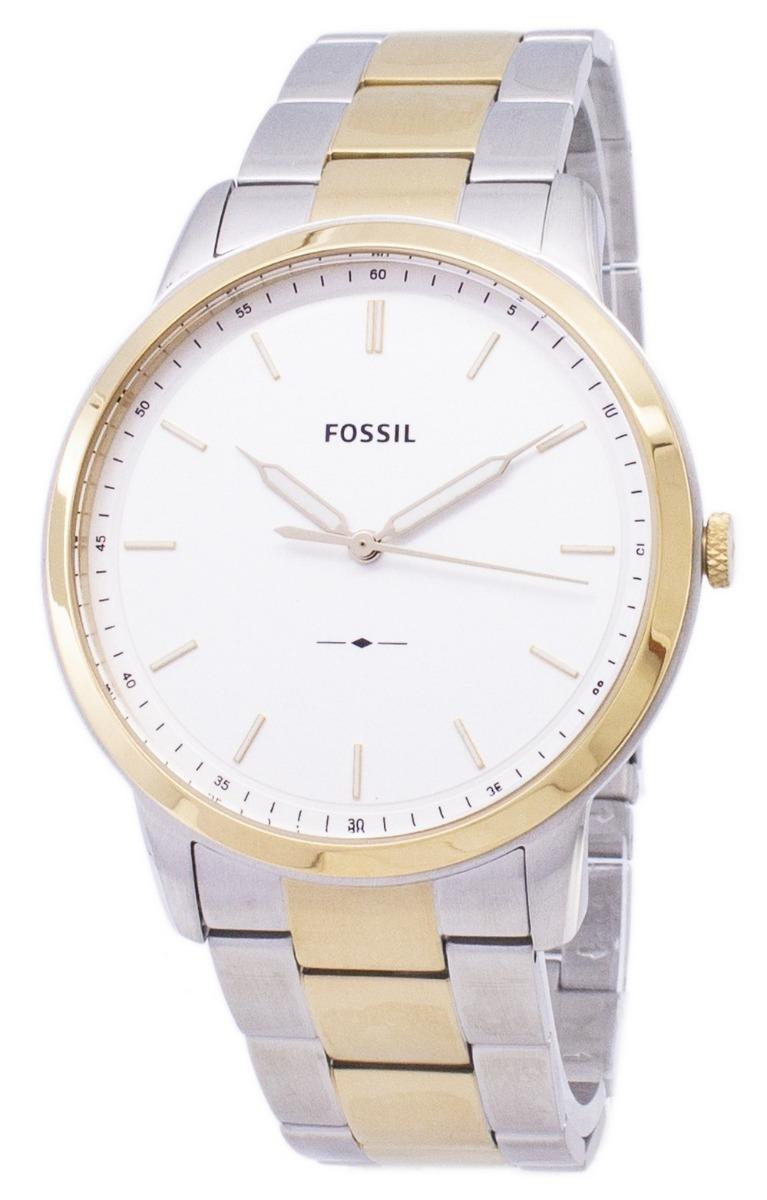 4f24263dac6e reloj fossil minimalist fs5441 acero plateado dorado hombre. Cargando zoom.