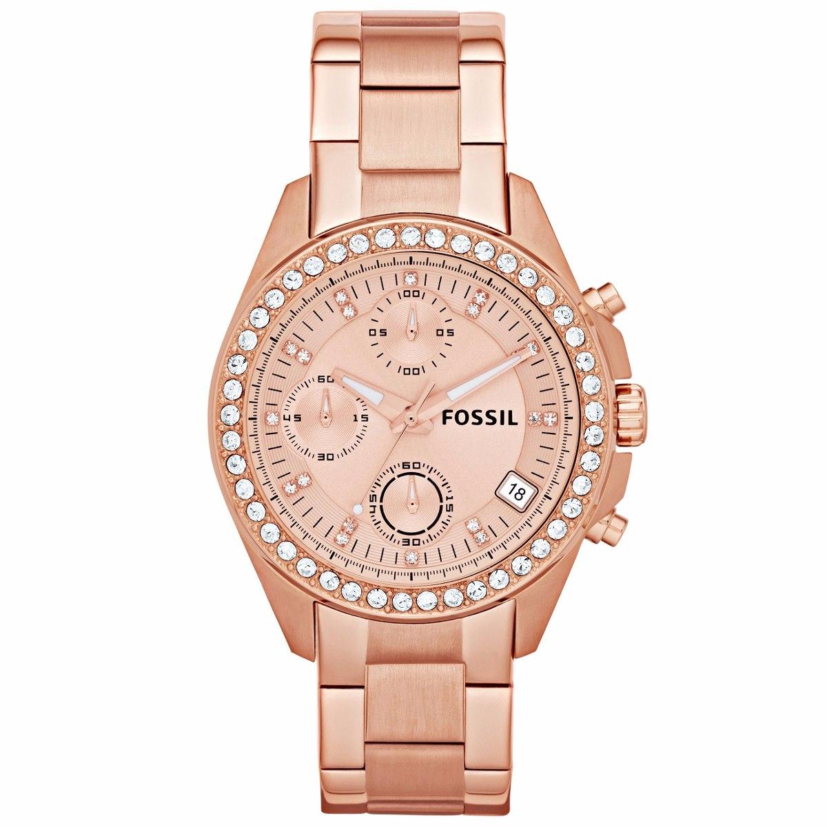 3e69aa4d9588 Reloj Fossil Mujer Decker Es3352 Moda Oro Rosa - S  414