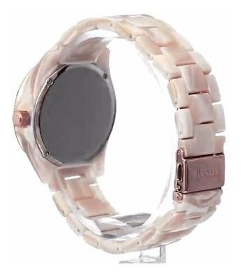 reloj fossil mujer es3579 resina brillante, piedras de seda