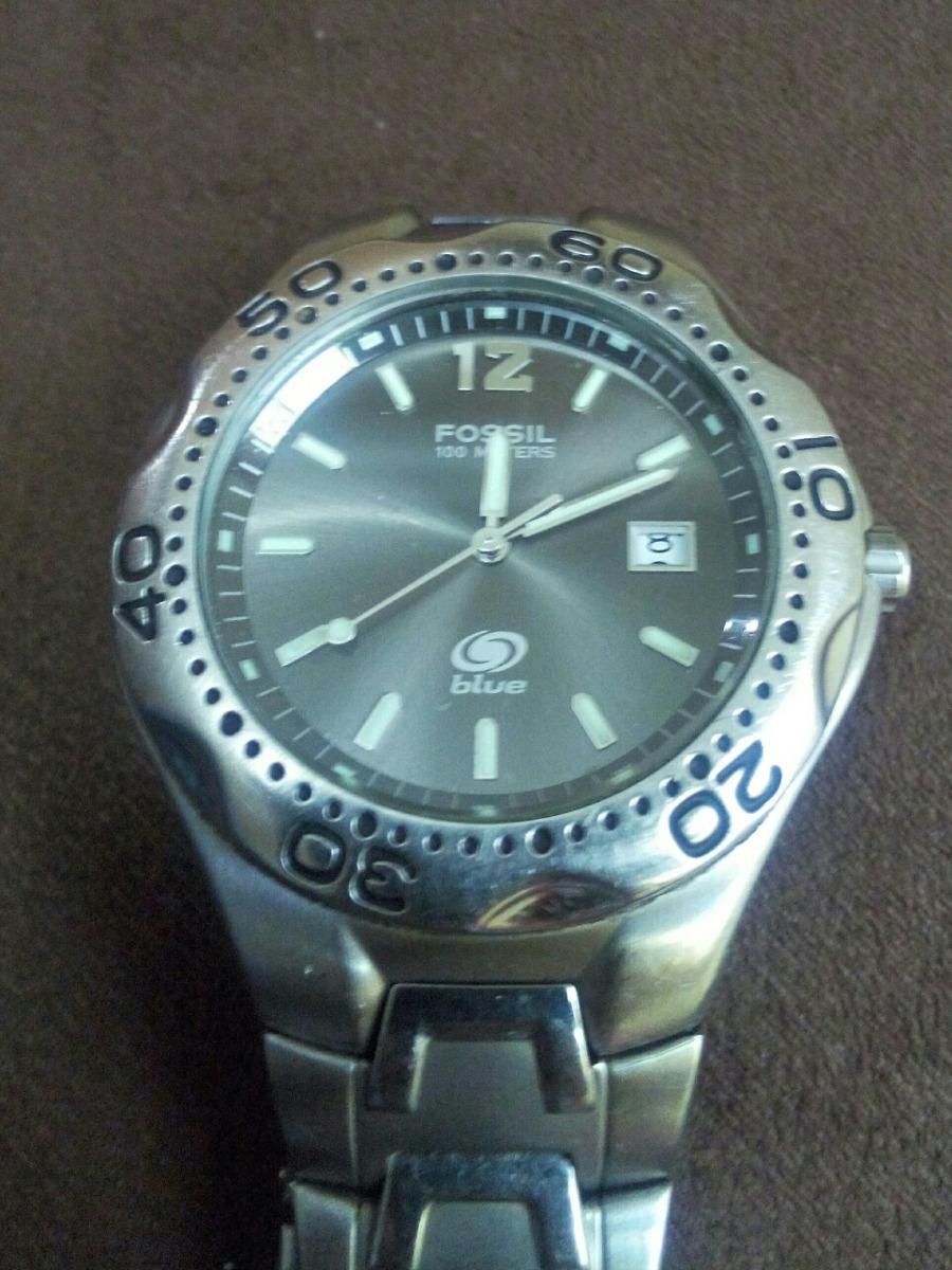 5f0ab6ef2265 reloj fossil original para caballero. blue. Cargando zoom.