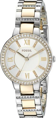 reloj fossil para mujer de acero inoxidable es3503 acentuado