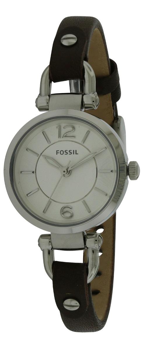 941223e31e3f Reloj Fossil Para Mujer Georgia Mini Correa De Cuero Café